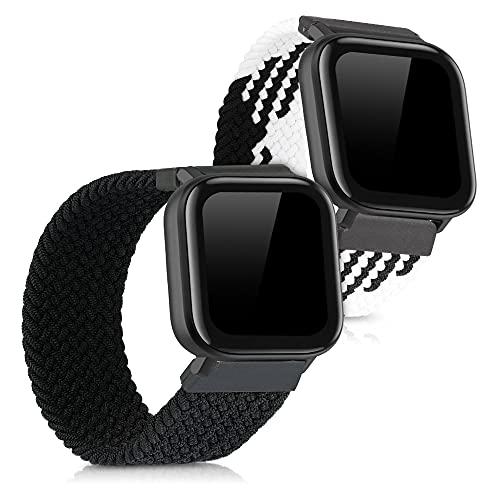 kwmobile Cinturino Compatibile con Huami Amazfit GTS GTS 2-2X Fascetta per Smart-Watch Fitness-Tracker - in Nylon con Fibbia ca.
