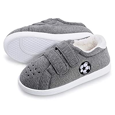 HOMEHOT Little Big Kids Slippers for Boys Girls...