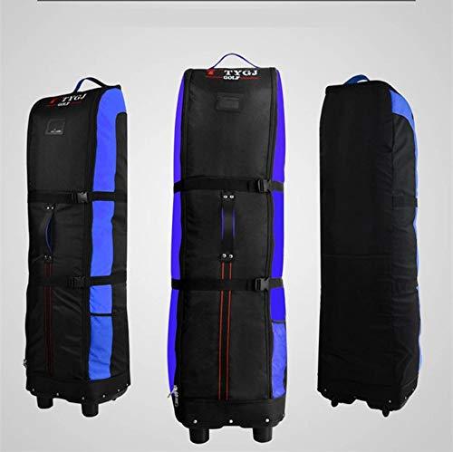 LFYPSM Outdoor Tragbaren Golfbag Club Große Kapazität Golf Airbag Falten Flugzeug Airbag Große Kapazität Tasche,Blue