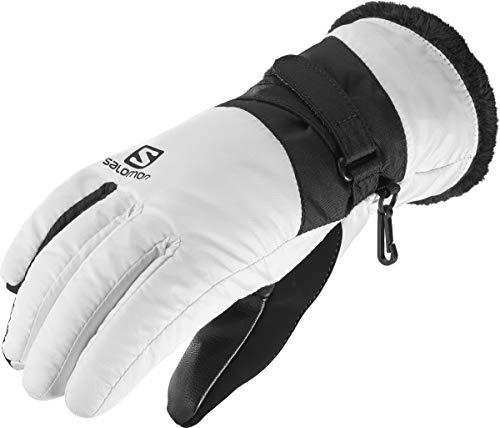 Salomon Damen Handschuhe, FORCE DRY W, Atmungsaktiv, Weiß/Schwarz, Gr. XL, L40424400