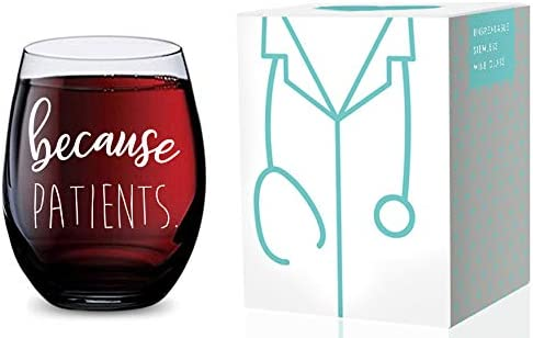new arrival Stemless Wine Glass for Nurses discount and Doctors (Because Patients) Made of Unbreakable Tritan Plastic and lowest Dishwasher Safe - 16 ounces online sale