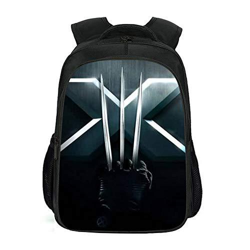 XWXBB X-Men – Mochila Wolverine para el tiempo libre, mochila portátil, mochila resistente a la suciedad, multifunción, gran capacidad