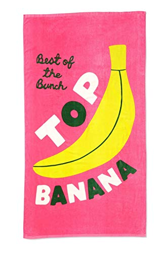 ban.do Beach Please Übergroßes Strandtuch, 182,9 x 101,6 cm (Top Banane)