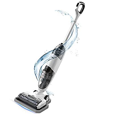 Cordless Wet Dry Vacuum Cleaner, Lightweight Hard Floor Washer