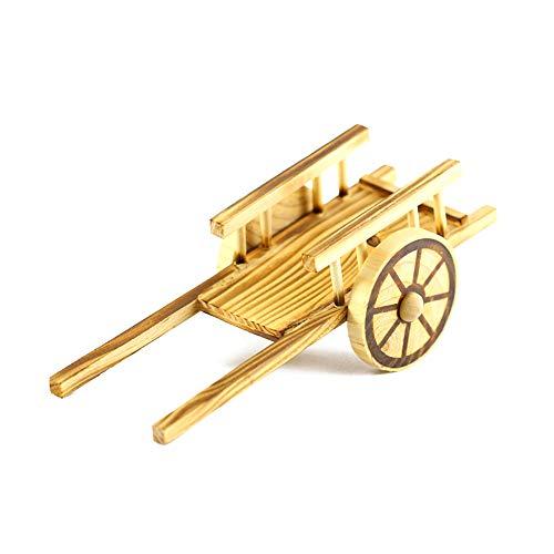 1pc de la carretilla de madera hechos a mano ornamento del arte de DIY niños de juguete retro Decoración Hogar Tabla plana de madera del coche modelo de coche