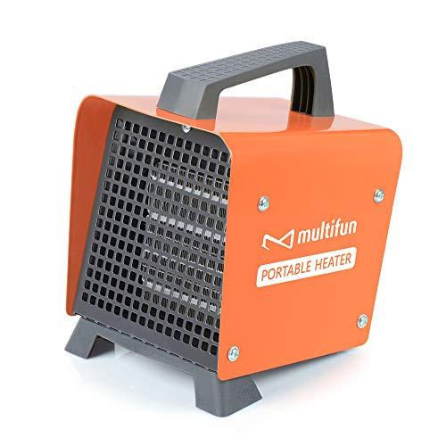 Heizlüfter klein, multifun mini keramik Elektroheizer PTC Technologie einstellbarem Thermostat 2 kW Heizgerät mini Heizung mit Überhitzungsschutz Umkippenschutz für Badezimmer Büro Schlafzimmer