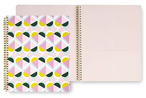 """Kate Spade New York Large Spiral Notebook, 11"""" x 9.5"""" with 160 College Ruled Pages, Geo Spade"""