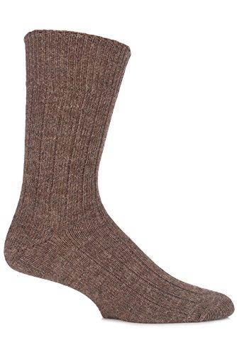 SockShop of London Herren 1 Paar Alpaca Bett Socken 4-7 Unisex Natural Brown