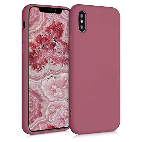 kwmobile Cover Compatibile con Apple iPhone XS - Custodia in Silicone Effetto Gommato - Back Case