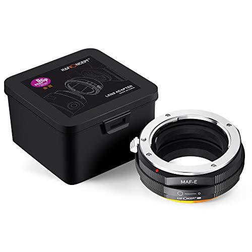 K&F Concept M22105 Minolta(AF)-NEX Hochpräziser Adapterring Objektivadapter Adapter Ring Objektiv Adapterring für Minolta(AF) Objektiv auf Sony E-Mount NEX Systemkamera