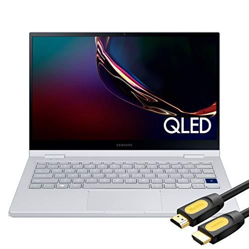 "Samsung Galaxy Book Flex Alpha 2-in-1 13.3"" QLED Touch-Screen Laptop 10th Gen Core i5-10210U 8GB RAM 1TB SSD Backlit KB Type-C Wi-Fi 6 FP Reader Webcam Mytrix HDMI 2.0 Cable Win10"
