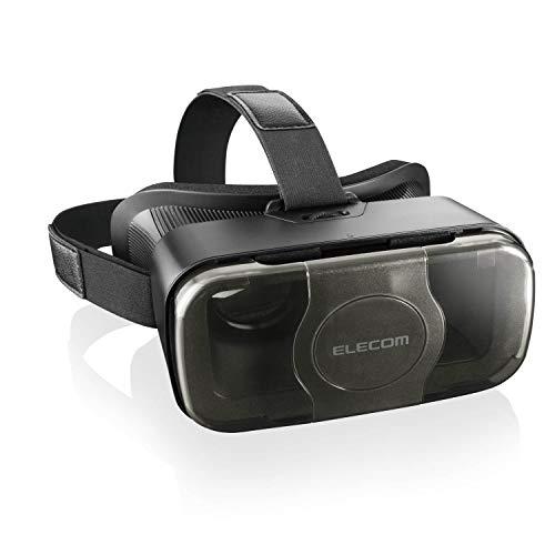エレコム VRゴーグル VRグラス 目幅調節可能 メガネ対応 ブラック VRG-S01BK