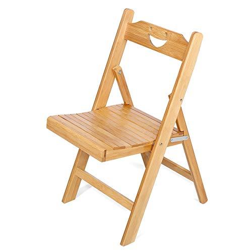 Cocoarm Draagbare bamboe klapstoel tuinstoel keukenstoel inklapbare bureaustoel en zitting voor binnen en buiten