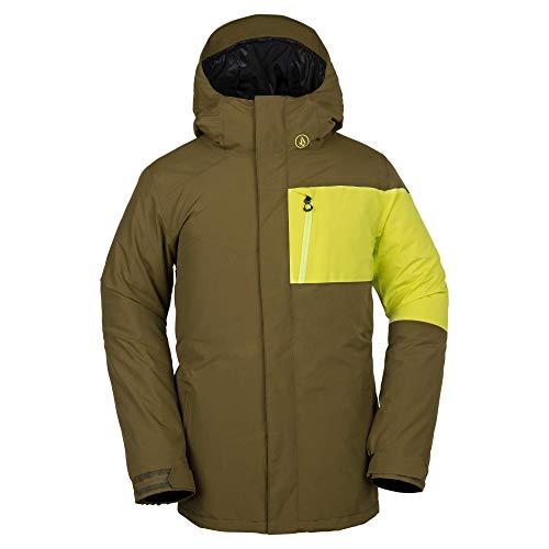 Volcom Herren L Gore-Tex 2 Layer Laminate Snow Jacket Isolierte Jacke, moos, Small