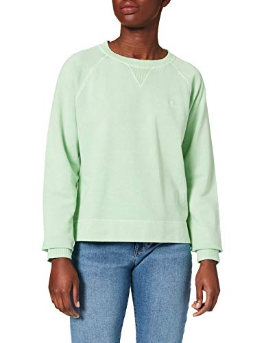 GANT D2. Sunfaded C-Neck Sweat Sudadera, Color Verde, XXL para Mujer