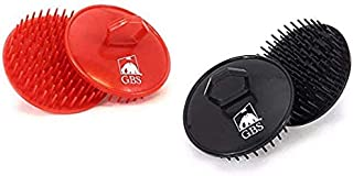 4 Pack GBS Shower Shampoo Scalp Massage Hair Brush No.100 (2 Black and 2 Red Brushes) For Men and Women The Best Invigorating Head Scrubber!