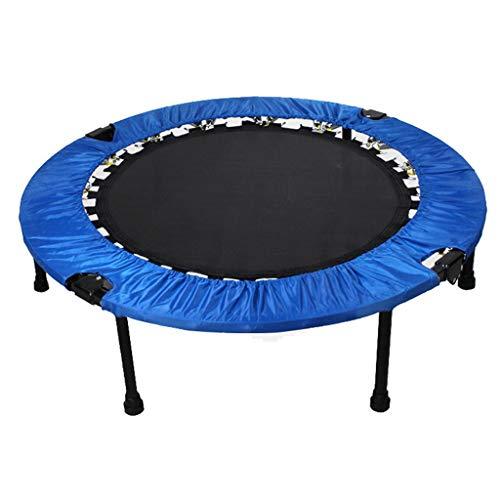 LKFSNG trampoline - 100 cm opvouwbare lente Fitness trampoline, binnen-/buiten kinderamusement trampoline - geschikt voor kinderen (blauw)