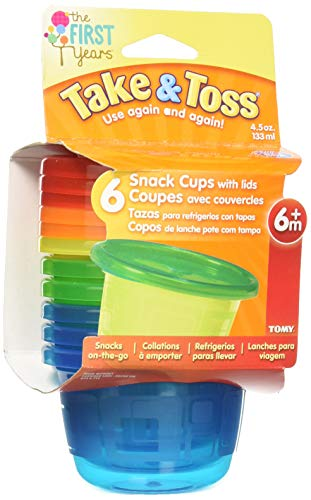 Best Prices! The First Years Take & Toss Snack Cups - 4.5 Ounce, 6 Pack