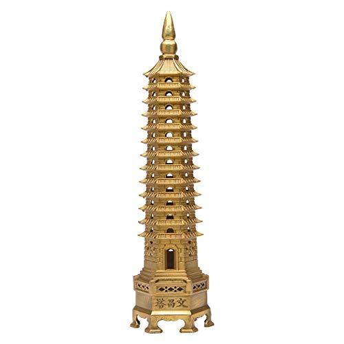 BRASSTAR Brass Feng Shui Statue Wenchang Pagoda Layer...