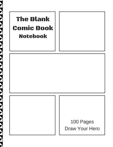 Blank Comic Book Notebook: Mix Panel (5-9), 8.5