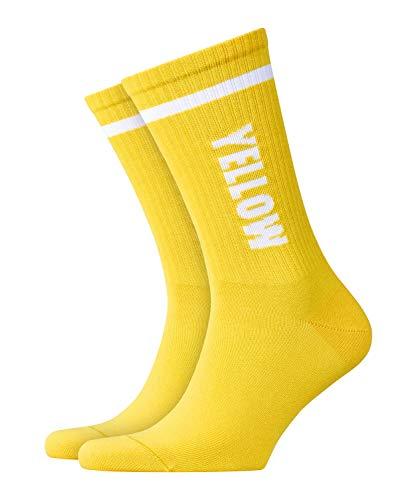 Burlington Herren Color Flash M SO Socken, Gelb (Sun 1380), 40-46 (UK 6.5-11 Ι US 7.5-12)