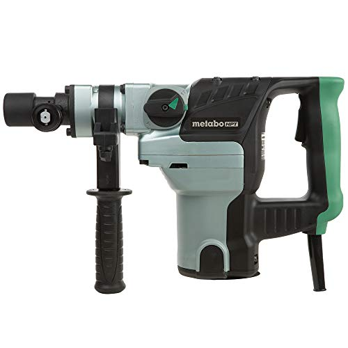 Metabo HPT Rotary Hammer, 8.4-Amp Motor, 1-1/2-Inch Spline Shank, Adjustable 360 Degree Side Handle (DH38YE2)