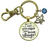 Gutsy Goodness Strength Keychain It Hasn't Gotten Easier Jewelry Believe Pendant Butterfly Charm