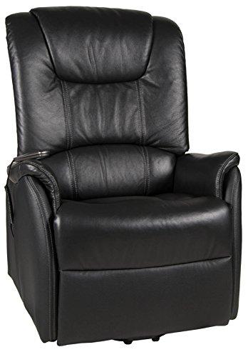 Duo Collection XXL-Fernsehsessel Messina bis 150kg Motor und Aufstehhilfe Leder schwarz