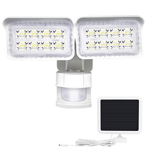 センサーライト 屋外 ソーラー 48LED 防犯ライト 充電池付き 夜間自動点灯消灯 IP65防水 分離型角度自由調整 ガーデンライト/防災停電対策/駐車場/庭/倉庫