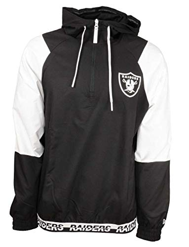 New Era Oakland Raiders Jacke - NFL Windbreaker - Black - XXL