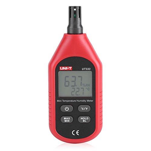 UNI-T UT333 Termómetro Higrómetro LCD portátil Medidores digitales de humedad de temperatura del aire