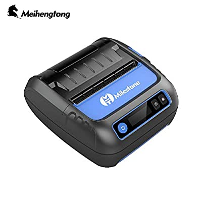 Thermal Bluetooth Printer,80mm POS Receipt/Label Printer 2 in 1 with Rechargeable Battery for Industrial,Small Business,Compatible with iOS/Android/Windows System