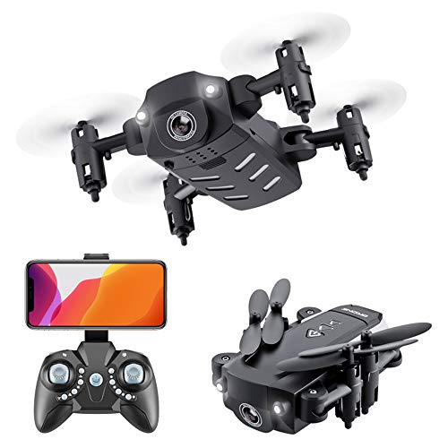 Mini drone, 1080 high-definition camera, 120 graden groothoek, kan worden bediend via de afstandsbediening telefoon, take video, one-click takeoff/landing drone, zwart