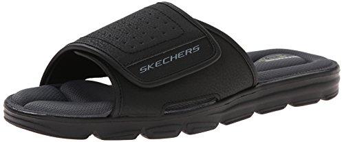 Skechers Sport Herren Wind Swell Slide Sandalen, Schwarz - Schwarz - Größe: 42 EU