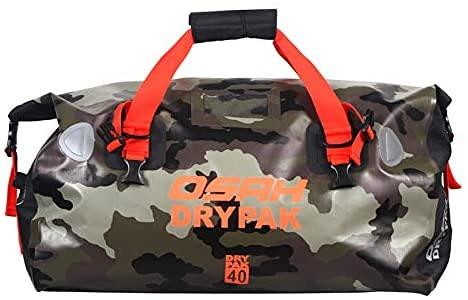 Motorrad Tasche wasserdicht Reisetasche Sattelrolle Gepäck Tasche reflektierend für Motorradfahren, Wandern, Radfahren, Reisen, Camping, Outdoor, Kayaking 40L Tarnung
