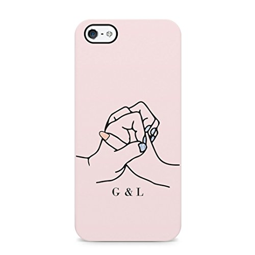 Personalised Custom Text Best Friend Initials Love Besfriend Forever Protective Hard Plastic Case Cover For iPhone 5/iPhone 5s/iPhone SE Carcasa
