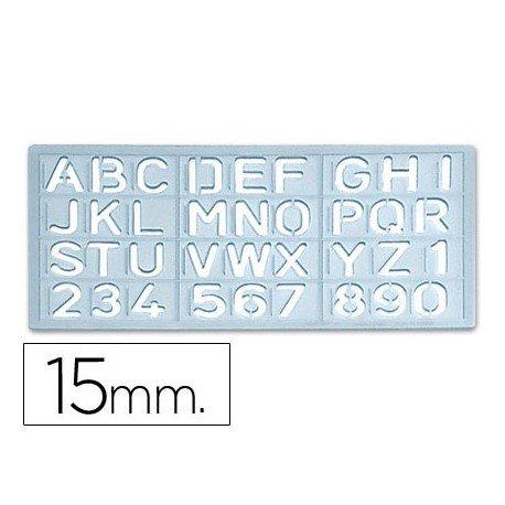 Sjabloon 1585 - letters en cijfers 15 mm