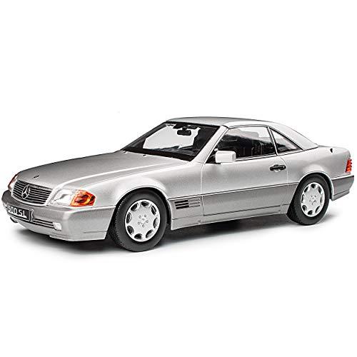 KK-Scale Mercedes-Benz SL-Klasse R129 500SL Cabrio Silber mit abnehmbarem Hard Top Dach 1989-2001 1/18 Modell Auto