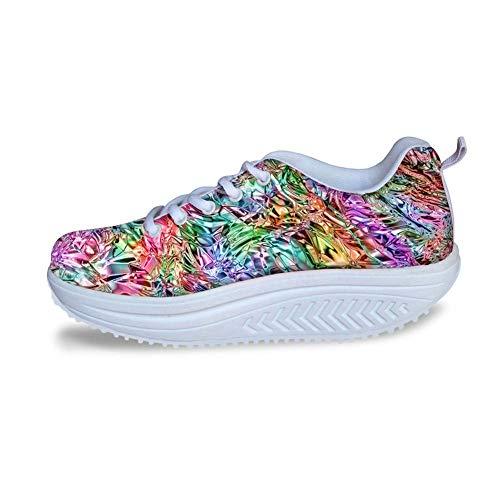 Bigcardesigns Female Toning Fitness Walking Shoes Sport Sneaker High Platform 40