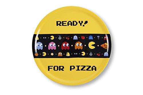 Excelsa Pacman - Plato para pizza, 31 cm, porcelana, multicolor