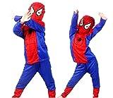 Costume Uomo Ragno - Travestimento - Carnevale - Halloween - Super eroe - Rosso - Bambino - Taglia M - 5-6 anni - Idea regalo per natale e compleanno
