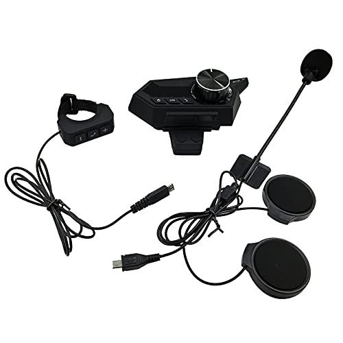 LOVSE 1000 mAh Bluetooth casco impermeable motocicleta auricular intercomunicador auriculares para conducir llamadas navegación