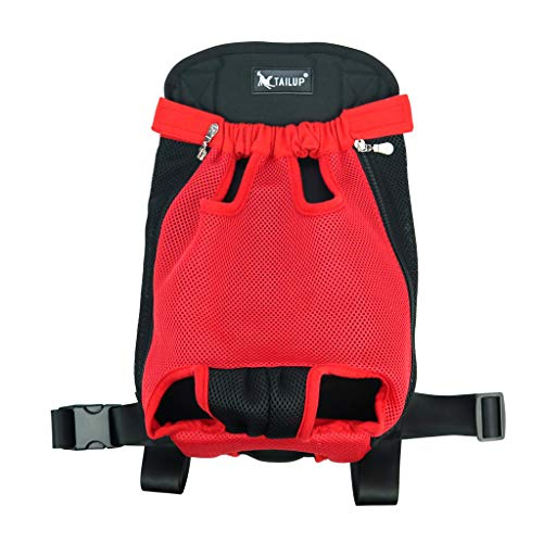 SM SunniMix Hunderucksack Bauchtragetasche für Hunde - Rot, XL