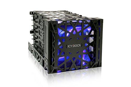 """Icy Dock Black Vortex MB074SP-B Cooler Cage 4 in 3 modulo per Dischi rigidi IDE, SATA e SAS da 3,5\"""" in 3 alloggiamenti da 5,25\"""""""