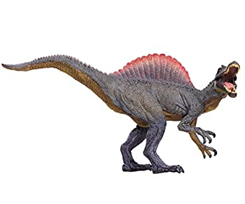 Higherbros Spinosaur Dinosaurs Action Figure Jurassicr World Green Science Education Toy Kids Favorite Gift  Red Brown