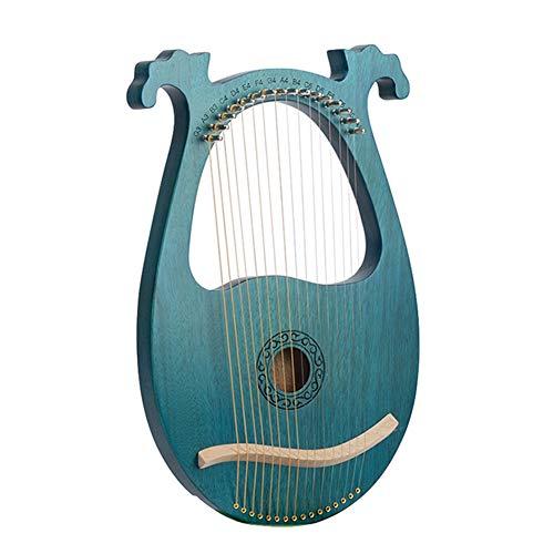 Cakunmik Arpa pequeña, Arpa de Caoba de 16 Cuerdas Simple Instrumento Retro con Llaves de sintonización adecuadas para niños, Adultos, Principiantes, Profesionales