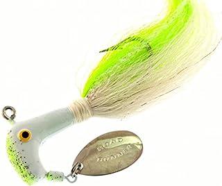 6oz Custom Chrome Diamond jig bucktail hooks Striper Tuna fishing lure 1725