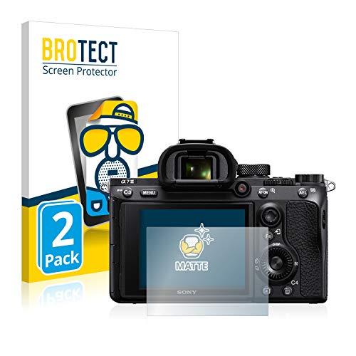 BROTECT 2X Entspiegelungs-Schutzfolie kompatibel mit Sony Alpha 7 III Displayschutz-Folie Matt, Anti-Reflex, Anti-Fingerprint