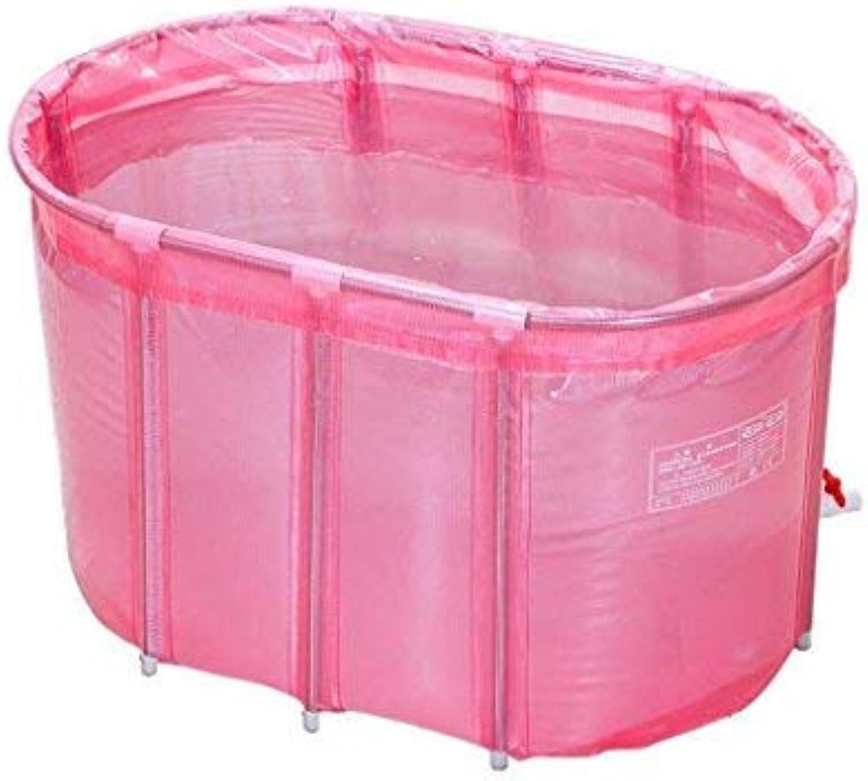 ZHAS Bathtub No Inflatable Bathtub Adult Double Insulation Double Folding Bathtub Stainless Steel Bubble Bath 110  65cm