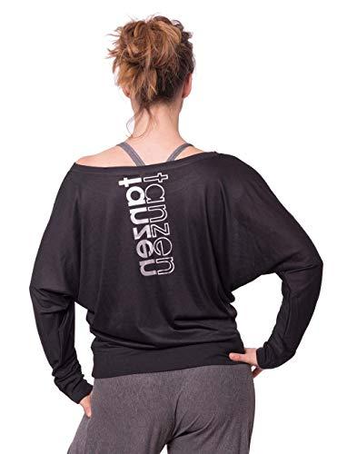 CLOSH Damen Tanzshirt Loose Fit Longsleeve Langarm, schwarz, S, W09-09-TT-0001
